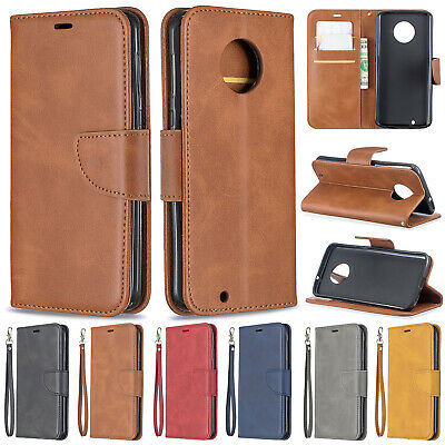 Luxury Flip Cover Stand Wallet PU Leather Case Pouch For Motorola Moto G6+ 2018