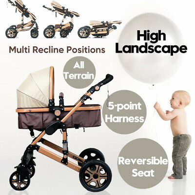 Baby Stroller Pram&Bassinet Newborn Baby Infant Foldable Pushchair Travel 8 in 1
