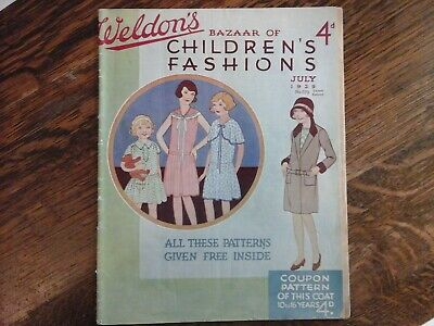 1929 Weldon's Bazaar of Children's Fashions 32 pages of vintage fashions