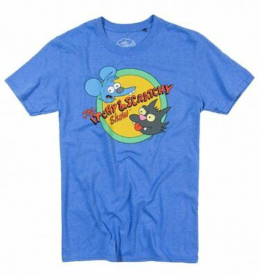 Simpsons Itchy And Scratchy TV Logo Imported T-Shirt Homer Bart S-XXL