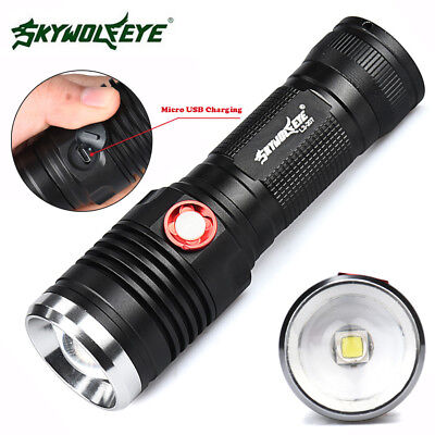 8000LM Zoomable CREE XM-L2 U2 LED 3 Modes USB Rechargeable Flashlight Torch Lamp