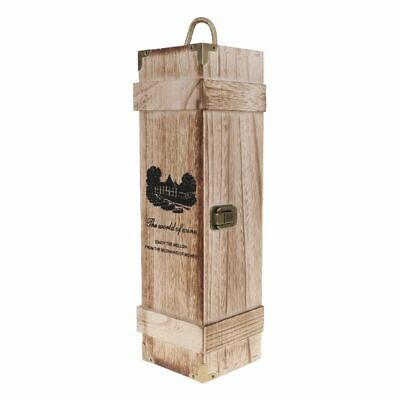 Retro Empty Single Bottle Red Wine Box Woods Storage Case Whiskey Box Carrier