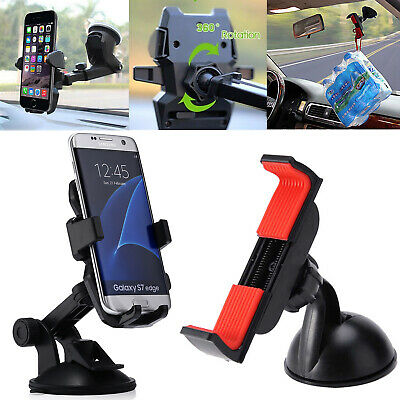 360° Rotatable In Car Suction Phone Holder Dashboard Windscreen Universal Mount