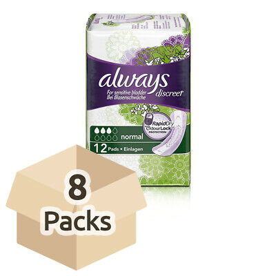 Always Discreet Pads Normal - Pack of 12 - For Sensitive Bladder Problems