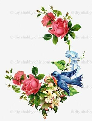 Furniture Decal Vintage Image Transfer Ivy Rose Upcycle Shabby Chic Antique DIY