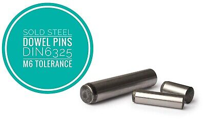 Metric Hardened and Ground Steel Dowel Pins DIN6325 1mm 1.5mm 100pcs