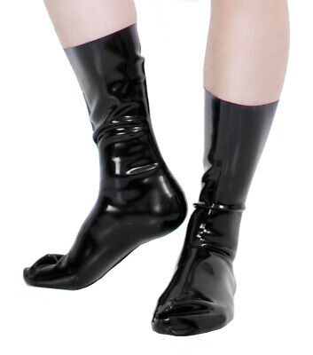 2. Wahl Latex Socken, schwarz, Gr. L, unisex, 0,6mm Rubber, Gummi, Fetish