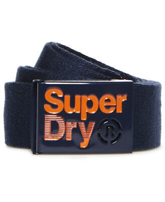 New Mens Superdry Single Solo Belt Navy