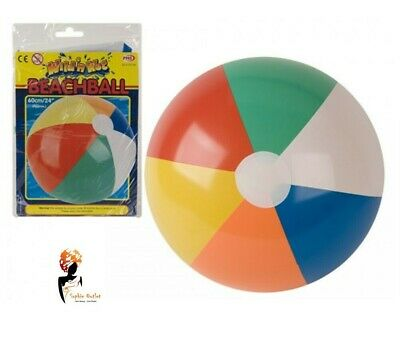 "24"" Inflatable PANEL BEACH BALL Toy Blowup Holiday Party Swimming Garden"