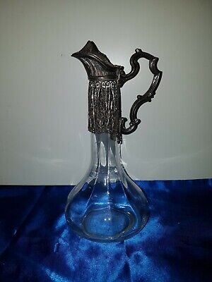 Alte Karaffe Krug Dekanter mit Montur Old Decanter