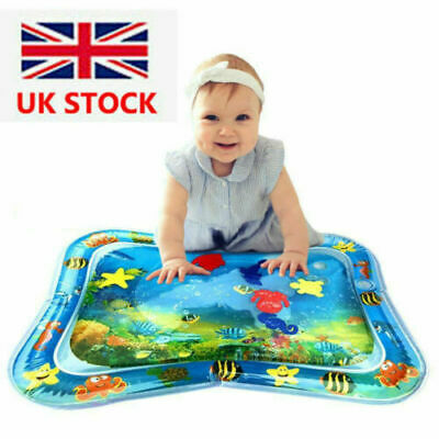 Inflatable Water Mat Baby Infant Toddlers Mattress Splash Play Mat Tummy Time UK