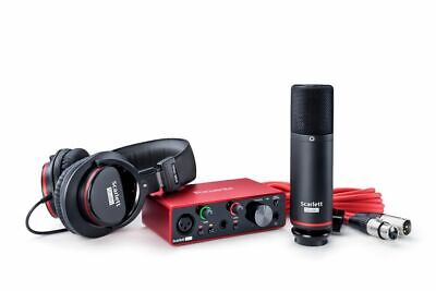 Focusrite 3rd Gen 1-Person Podcast Podcasting Recording Interface+Mic+Headphones