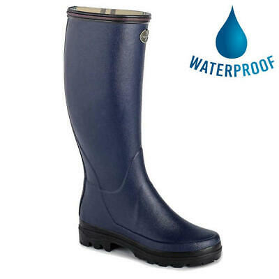 Le Chameau Womens Ladies Giverny Blue Wellies Wellington Boots Size 4-7