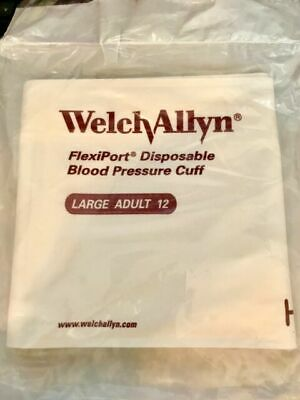 NEW CASE 20pcs Welch Allyn Flexiport Disposable Blood Pressure Cuff Adult 901044