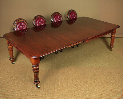 Antique 10 Seater Extending Mahogany Dining Table c.1860.