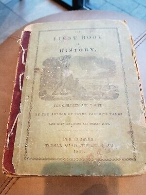 Early Childs History Book 1838 With Maps Of United States east to west maps