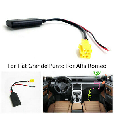 for Alfa Romeo 159 Fiat Grande Punto ISO 6pin Bluetooth Module AUX Adapter Cable