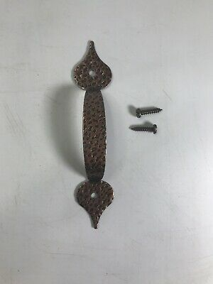 Vintage Antique-Style Forged Iron Drawer Pull with Screws Copper Finish NOS