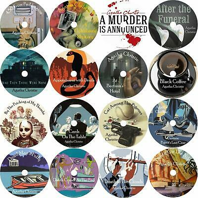 Agatha Christie Audio Book Mixed Lot Set #1 16 MP3 Discs in Cases Free Shipping