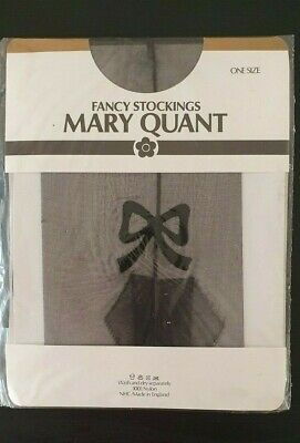"Black Diamond /""Giraffe/"" Tights by Mary Quant One Size Retro Style"