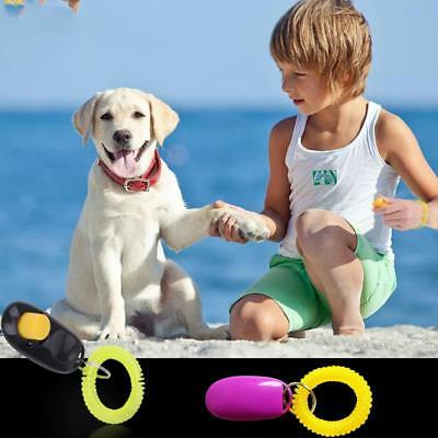 1PCS Dog Clicker&Whistle Training Obedience Pet Trainer Click Puppy With Guide
