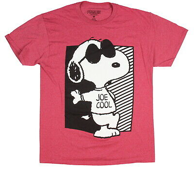 Peanuts Men's Snoopy Joe Cool Posted Up Licensed Character T-Shirt