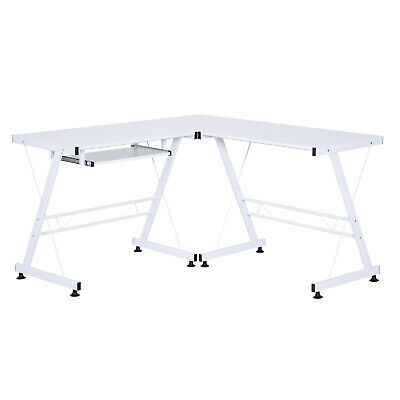 Modern L-Shaped  Computer Desk Corner Table Office Workstation  w/ CPU Stand