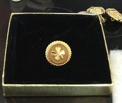 2-CHANEL Vintage Four-Leaf Clover Button Circa 1980s