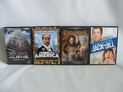 DVD Lot 4 Movies Coming To America Jack Jill Lord Of The Rings Ancient Aliens