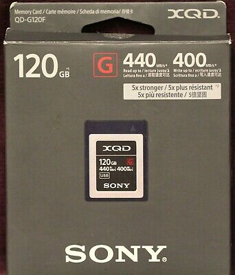 Sony Memory Card XQD G Series 120GB Read 440MB/s Write 400MB/s (QD-G120F)