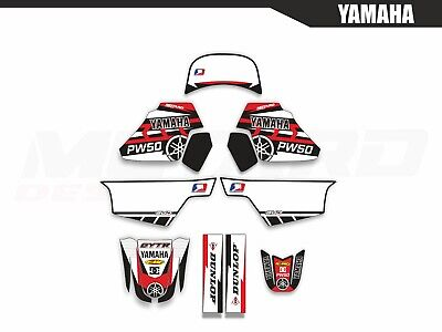 Dirt Bike Graphics Kit MX Decal Wrap For Yamaha PW50 PW 50 1990-2018 STSTAR BLUE