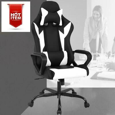 Racing Office Chair High-Back PU Leather Gaming Chair Reclining Computer Desk