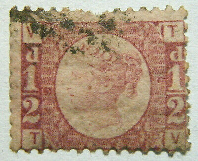 Great Britain Stamp 1870 1/2d Queen Victoria Plate 5 Scott 58 SG48 Used