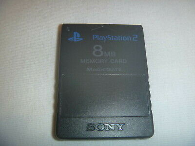 Official OEM Sony Playstation 2 PS2 8MB Magicgate Memory Card SCPH-10020 Black