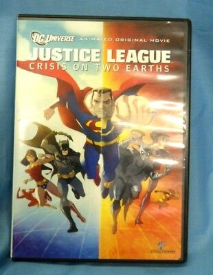 Justice League: Crisis on Two Earths DVD - USED - Very Good Condition !