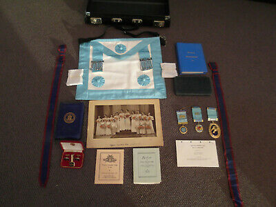 Masonic Regalia MM/WM Craft Master Mason Apron with Medals and much more.