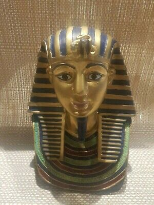 """Ancient Egyptian King Tut Burial Mask Statue 7""""H"""