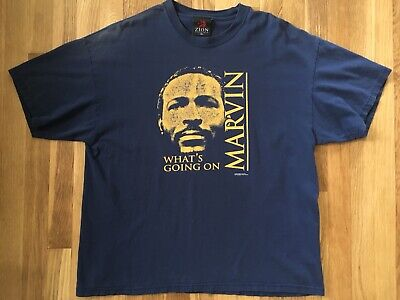 """2c4686eaa152 Vintage Men's Size XL Zion Marvin Gaye 2004 """"What's Going On?"""" T Shirt"""