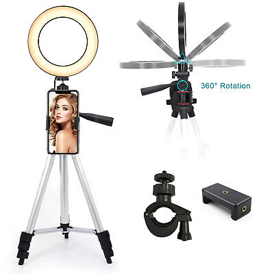 LED Ring Light Tripod Stand LED Lighting Kit For iPhone X XS Max Live Streaming