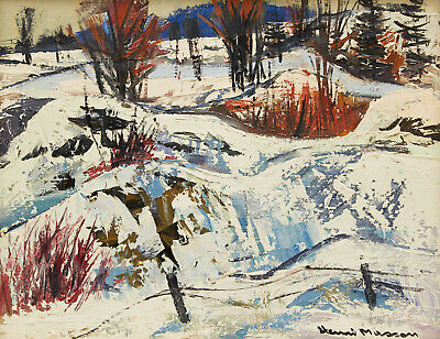 """Henri Masson, RCA, Canadian, oil painting on canvas, 16"""" x 20"""""""
