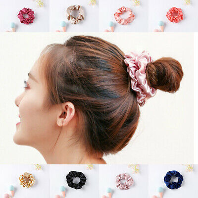 100% Pure Mulberry Silk Hair Scrunchie Summer Fashion Hair Dance Scrunchie Gift
