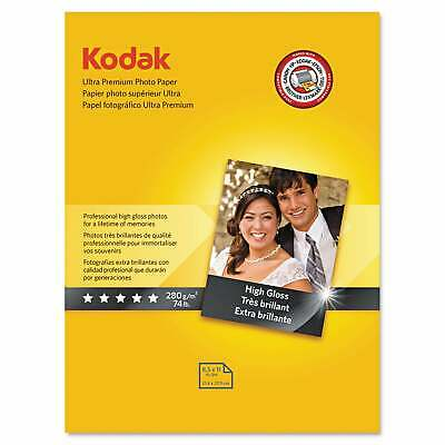 Kodak Ultra Premium Photo Paper 10 mil High-Gloss 8-1/2 x 11 White