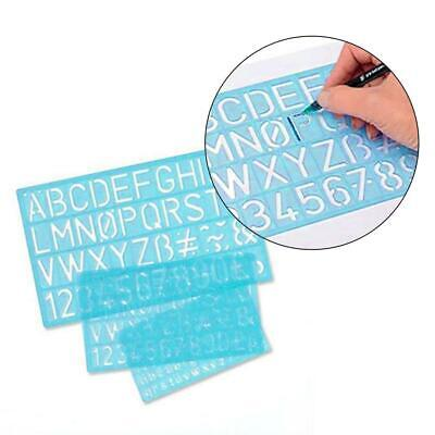 4PCS/Set Multifunctional Ruler Template Numbers Letters Alphabet Stencil Guides