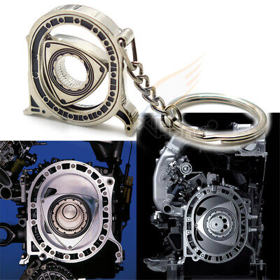 Motorcycle Bicycle Mazda Rotary Wankel engine Key Chain Ring Keychain Keyring