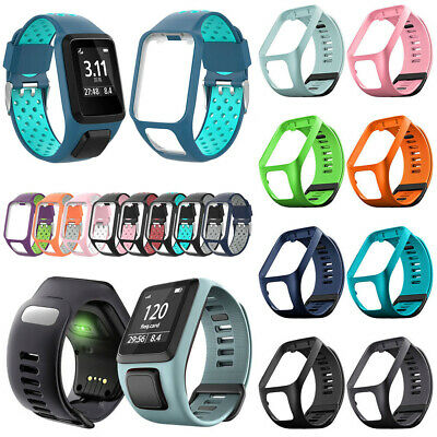 Replacement Silicone Band Strap forTomTom Runner 2/3 Spark/3 Sport GPS Watch 3A