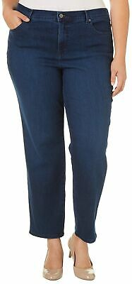 Gloria Vanderbilt Plus Amanda Solid Stretch Slimming Jeans 16W Short