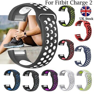 Soft Silicone Replacement Spare Sport Band Bracelet Strap for Fitbit Charge 2