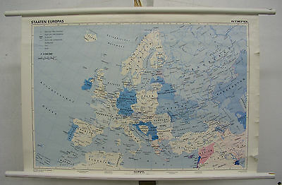 Schulwandkarte Role Map Wall Map School Map Map Countries Europa 1992 92x63cm