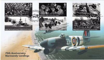 2019 D-Day (Stamps) - Benham BLCS 783 (Typhoon Flying over Beaches) Official