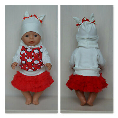 Tutu skirt Clothes set for Baby Born or other doll till 43 cm, Zapf doll clothes